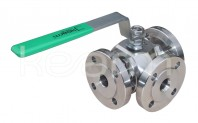 Three-way ball valve for high temperatures, KM 93-HT - Three-way ball valves
